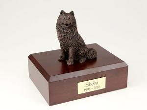 Samoyed, Bronze Dog Figurine Cremation Urn