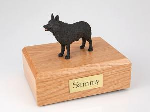 Schipperke Dog Figurine Cremation Urn