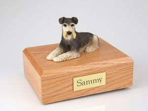 Schnauzer Dog Figurine Cremation Urn