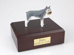 Schnauzer Giant, Gray Dog Figurine Cremation Urn