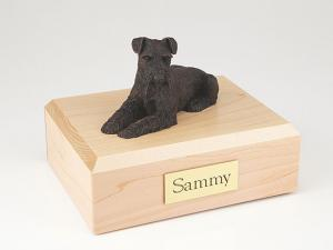 Schnauzer, Bronze - ears down Dog Figurine Cremation Urn