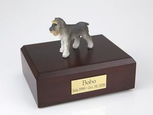 Schnauzer, Gray - ears down Dog Figurine Cremation Urn