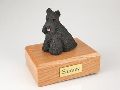Scottish Terrier Dog Figurine Cremation Urn