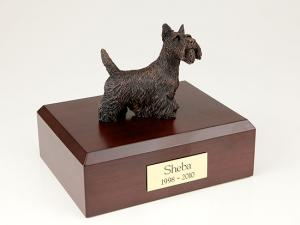 Scottish Terrier, Bronze Dog Figurine Cremation Urn