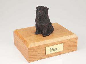 Shar Pei, Bronze Dog Figurine Cremation Urn