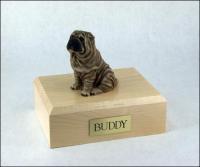 Shar Peis Dog Figurine Cremation Urn