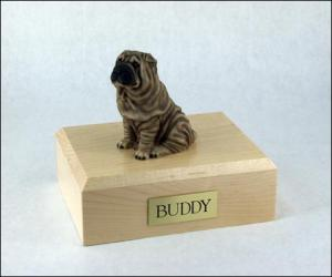 Shar Peis Dog Figurine Cremation Urn