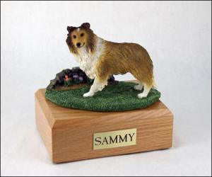 Sheltie, Sable Dog Figurine Cremation Urn