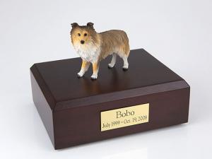 Sheltie, Sable Standing Dog Figurine Cremation Urn