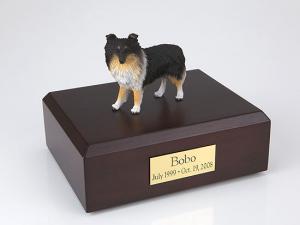 Sheltie, Tri-Color Dog Figurine Cremation Urn