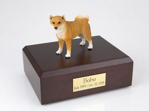Shiba Dog Figurine Cremation Urn