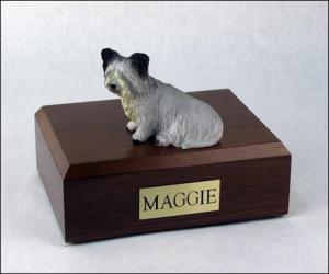 Skye Terrier Dog Figurine Cremation Urn