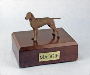 Vizsla Dog Figurine Cremation Urn