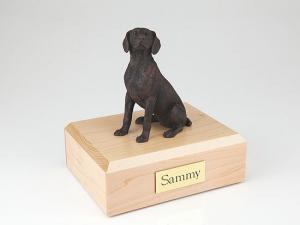 Weimaraner, Bronze Dog Figurine Cremation Urn