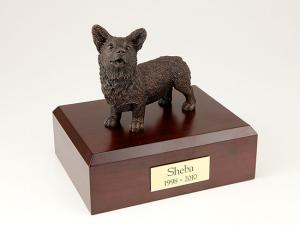 Welsh Corgi, Bronze Dog Figurine Cremation Urn