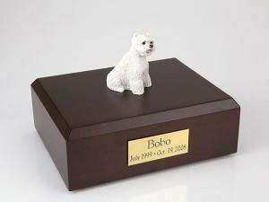Westie Sitting Dog Figurine Cremation Urn