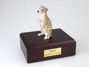 Whippet, Gray Dog Figurine Cremation Urn