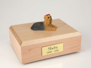 Yorkshire Terrier Sleeping Dog Figurine Cremation Urn