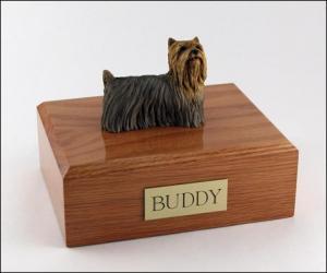 Yorkshire Terrier Multi Color, Standing Dog Figurine Cremation Urn