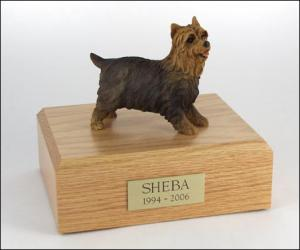 Yorkshire Terrier Black Nose Standing Dog Figurine Cremation Urn