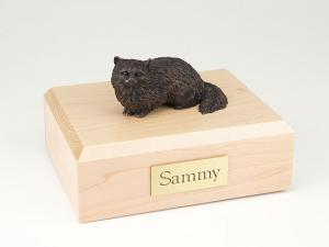 Angora, Bronze Cat Figurine Cremation Urn