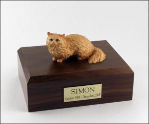 Angora, Brown Cat Figurine Cremation Urn