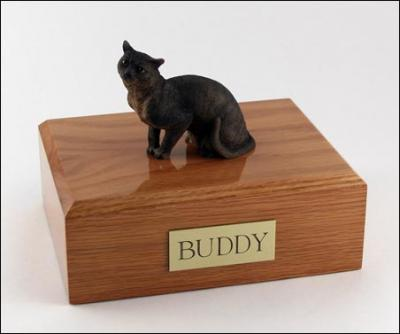 Burmese-Himalayn Cat Figurine Cremation Urn