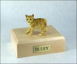 Manx, Red Taby Cat Figurine Cremation Urn