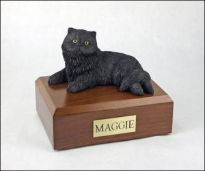 Persian, Black Cat Figurine Cremation Urn