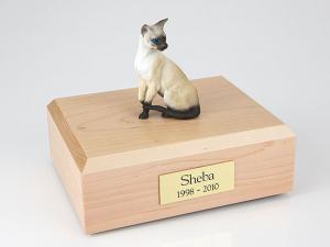 Siamese Sitting Cat Figurine Cremation Urn