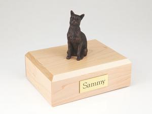Siamese Bronze Cat Figurine Cremation Urn