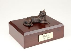 Tabby, Bronze Sitting Cat Figurine Cremation Urn