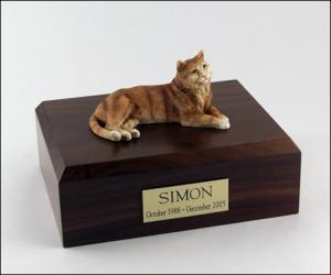 Tabby, Orange Cat Figurine Cremation Urn