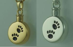 Silver Paw Signet Cremation Pendant