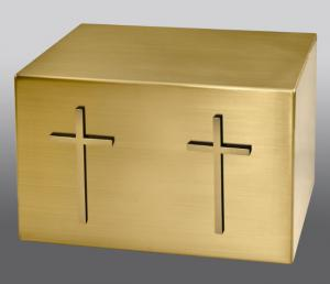 Twin Crosses Companion Bronze Cremation Urn
