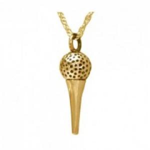 Gold Plated Golf Tee Pendant