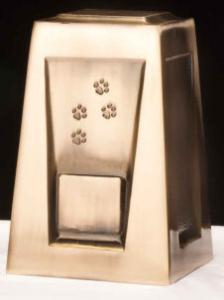 Olympus Paws Metal Pet Cremation Urn