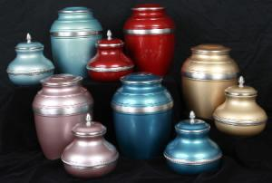 Painted Pewter Cremation Urns
