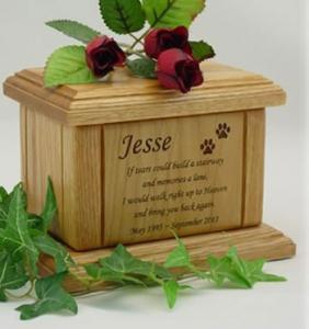 Memorial Poem Pet Cremation Urn