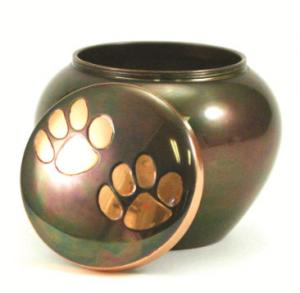 Copper Paws Brass Pet Cremation Urns