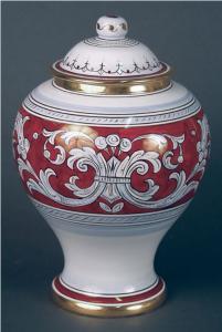 Italian Porcelain Cremation Urn