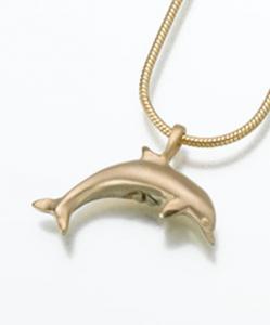 Gold Vermeil Dolphin Keepsake Pendant Urn