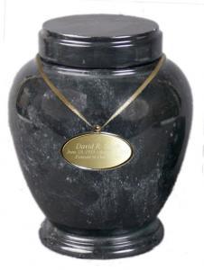 Black Marble Adult Cremation Urn
