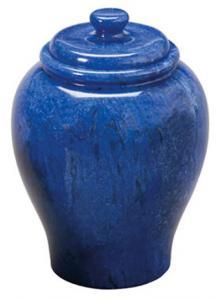 Cobalt Blue Marble Cremation Urn