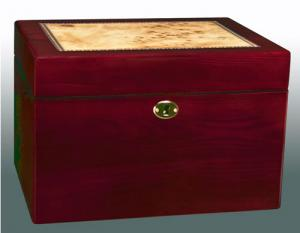 Lacquered Wood Lockable Chest Cremation Urn