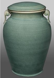 Corinthian Green Porcelain Companion Cremation Urn