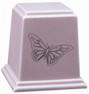 Temple Cultured Granite Cremation Urn - Many Colors