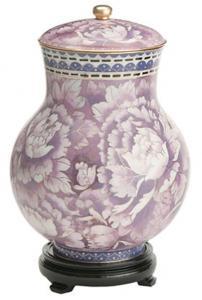 Lavender Garden Cloisonne Cremation Urn