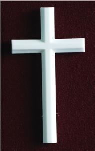 White Marble Cross Cremation Urn Applique