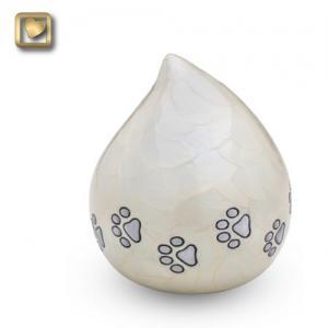 Lovedrop Pet Cremation Urn Pearl